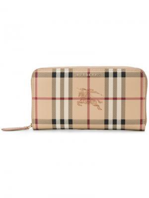 Бумажник Elmore Burberry. Цвет: телесный