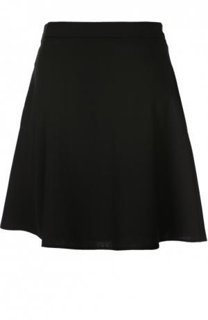 Мини-юбка А-силуэта с широким поясом Valentino. Цвет: черный