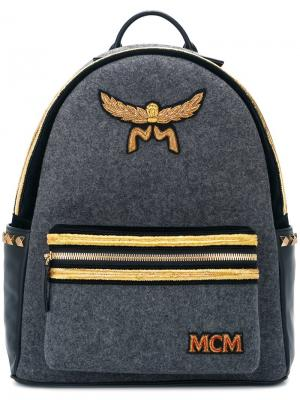 Рюкзак на молнии MCM. Цвет: серый