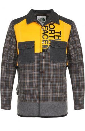 Куртка на пуговицах с контрастной отделкой Junya Watanabe. Цвет: желтый