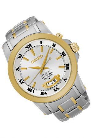 Часы Seiko. Цвет: серебристый, золотистый