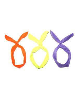 Повязка на голову, 3 шт Lola. Цвет: оранжевый, салатовый, фиолетовый