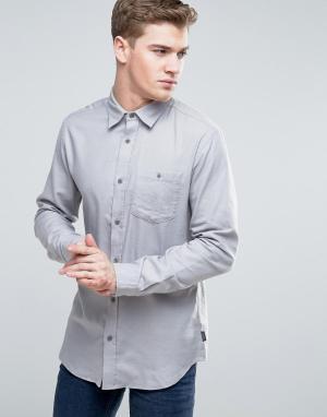 Jack & Jones Джинсовая классическая рубашка с карманом Originals. Цвет: серый