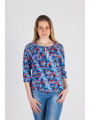 Блуза с секретом кормления Геометрия дизайн №2 Ням-Ням. Цвет: синий, коралловый, серый