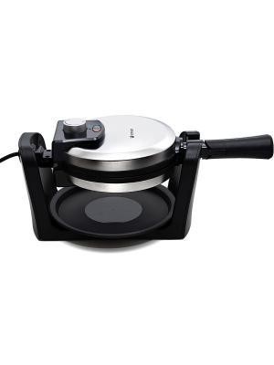 Вафельница профессиональная поворотная КТ-1608 Kitfort. Цвет: черный, серебристый