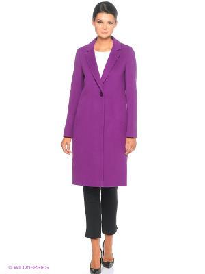 Пальто Electrastyle. Цвет: сиреневый