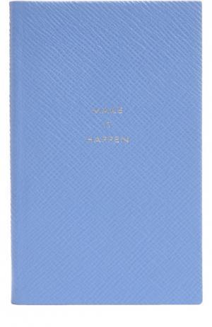 Записная книжка Smythson. Цвет: голубой