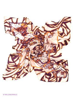 Платок Labbra. Цвет: кремовый, фиолетовый, оранжевый