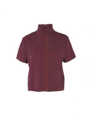 Блузка WOOD. Цвет: красно-коричневый