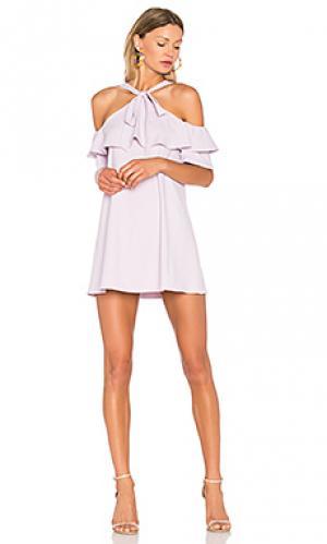 Платье rowan Susana Monaco. Цвет: бледно-лиловый
