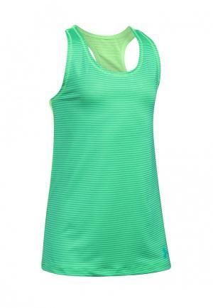 Майка спортивная Under Armour. Цвет: зеленый