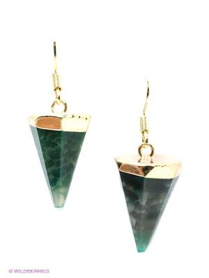 Серьги Kameo-bis. Цвет: темно-зеленый, золотистый