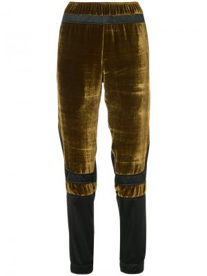 Velour panel trousers Astrid Andersen. Цвет: чёрный