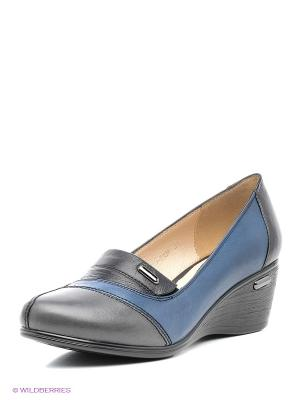 Туфли Covani. Цвет: черный, синий