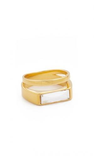 Кольцо Iris Plain Band Vita Fede. Цвет: золотистый/прозрачный