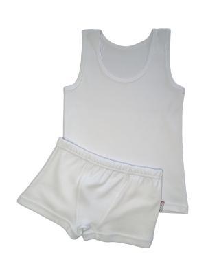 Комплект белья для мальчиков ABAI kids. Цвет: белый