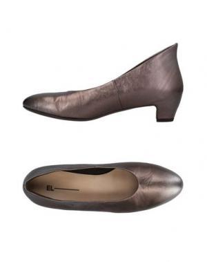 Туфли EL. Цвет: темно-коричневый