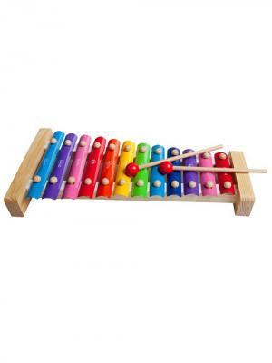 Ксилофон 12 пластин Винтик и Шпунтик. Цвет: светло-бежевый