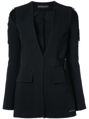 Пиджак асимметричного кроя David Koma. Цвет: чёрный