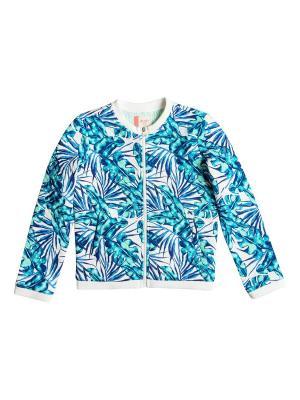 Куртка ROXY. Цвет: белый, розовый