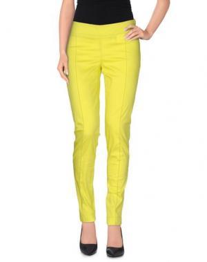 Повседневные брюки PIANURASTUDIO. Цвет: кислотно-зеленый