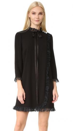 Кружевное платье-комбинация Marc Jacobs. Цвет: голубой