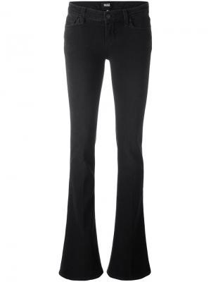Расклешенные джинсы Paige. Цвет: чёрный