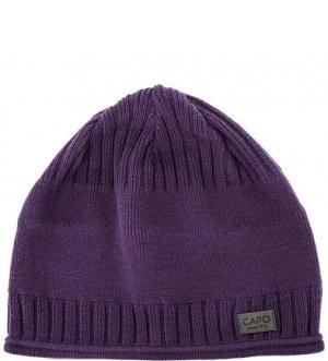 Фиолетовая шапка из хлопка Capo. Цвет: фиолетовый
