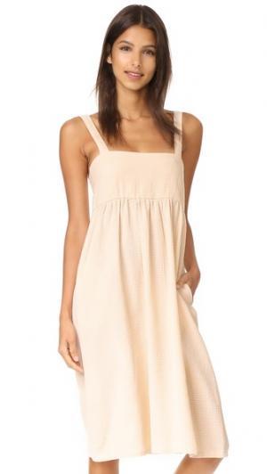 Платье Femme Knot Sisters. Цвет: коричневый