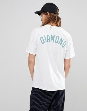 Diamond Supply Футболка с принтом. Цвет: белый