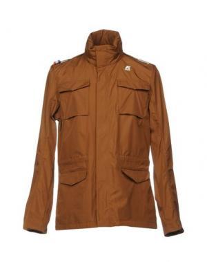 Куртка K-WAY. Цвет: коричневый