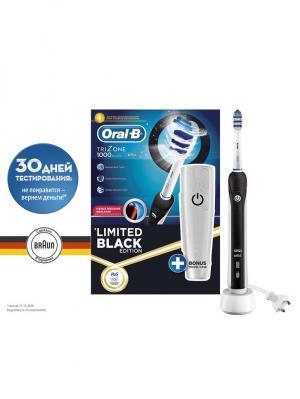 Электрическая зубная щетка 1000/D20.513.1 Black TriZone (6/180) Oral-B. Цвет: черный, белый