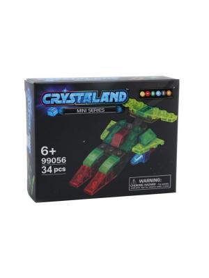 Светящийся конструктор Crystaland Космический корабль  34 детали Neocube. Цвет: фиолетовый