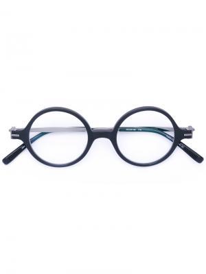 Солнцезащитные очки со съемными линзами Matsuda. Цвет: чёрный