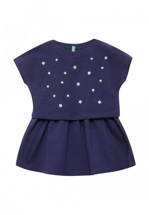 Платье United Colors of Benetton. Цвет: фиолетовый