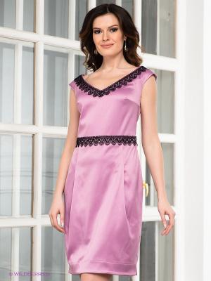 Платье Capriz. Цвет: лиловый, черный