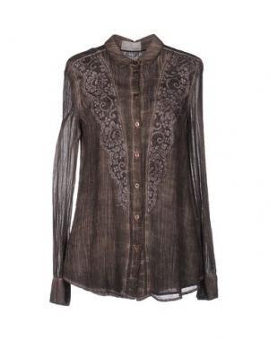 Pубашка ROBERTA SCARPA. Цвет: темно-коричневый