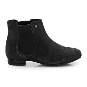 Ботинки из невыделанной кожи в стиле челси ELLE. Цвет: черный