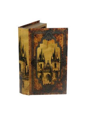 Шкатулка-фолиант Заколдованный замок 28*18см Русские подарки. Цвет: коричневый, светло-коричневый