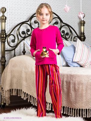 Пижама Lowry. Цвет: фуксия, оранжевый