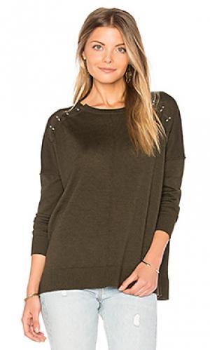 Пуловер с застежками-штангами 525 america. Цвет: военный стиль