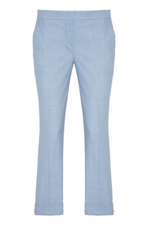 Голубые шерстяные брюки Lorena Antoniazzi. Цвет: голубой
