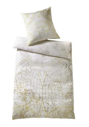 Постельное белье Heine Home. Цвет: белый