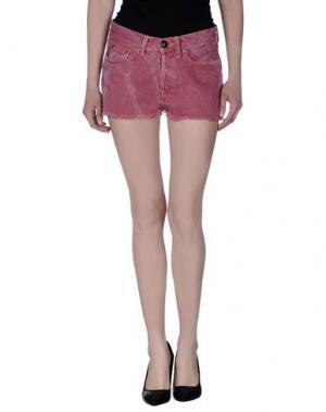 Джинсовые шорты SHIELD. Цвет: пастельно-розовый