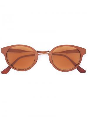 Солнцезащитные очки Synthesis Retrosuperfuture. Цвет: коричневый