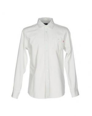 Джинсовая рубашка OBEY. Цвет: синий