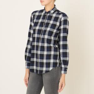 Рубашка женская CLYDE HARTFORD. Цвет: красный,темно-синий