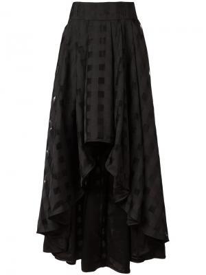 Юбка макси с пышными рюшами Ultràchic. Цвет: чёрный