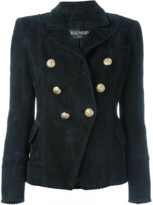 Двубортный пиджак Balmain. Цвет: чёрный