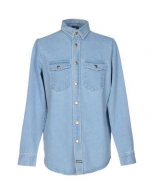 Джинсовая рубашка LES (ART)ISTS. Цвет: синий